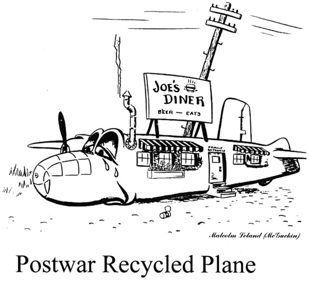 Postwar Recycled Plane