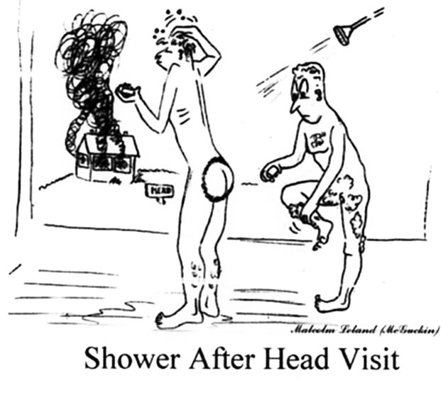 Shower After Head Visit